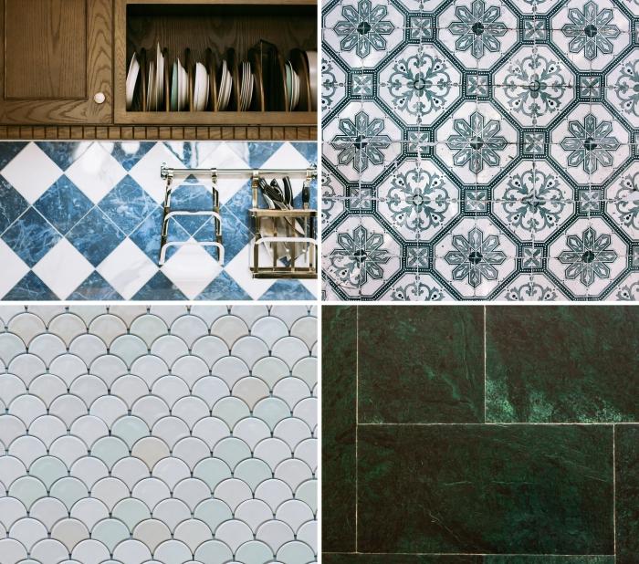 modèles de carrelage tendance pour un revêtement de mur ou sol dans la cuisine et la salle de bain