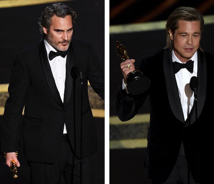 Joaquin Phoenix remporte l'Oscar 2020 du meilleur acteur pour Joker et Brad Pitt le second rôle pour Once Upon A Time In Hollywood