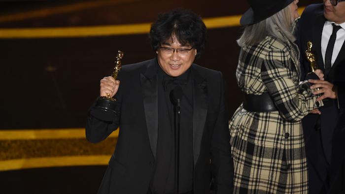 Le réalisateur sud-coréen est le grand gagnant de cette cérémonie des Oscars 2020 avec son film Parasite
