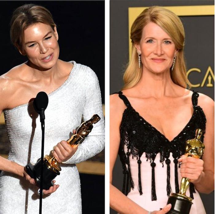 Renee Zellweger repart avec l'Oscar 2020 de la meilleure actrice et Laura Dern avec celui du meilleur second rôle féminin