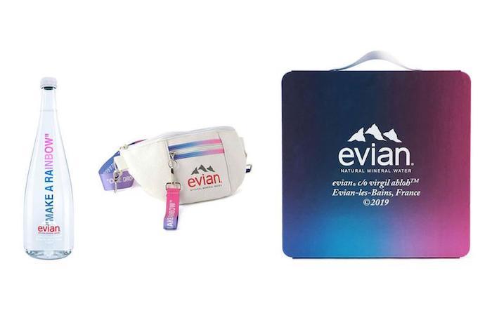 Après une première série de bouteilles et produits dérivés, la collab Evian x Virgil Abloh revient pour une campagne 3.0