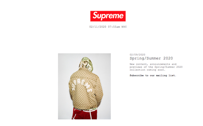 La marque Supreme se prépare à l'arrivée des beaux jours avec un aperçu de sa future collection Supreme SS20