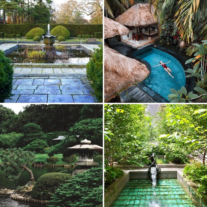 conception de jardin avec source d'eau pour une ambiance relaxante, design de jardin dans l'esprit zen