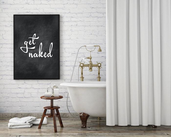 Originale idée pour la salle de bain tableau rigolo, les plus belles salles de bain, inspiration salle de bains moderne