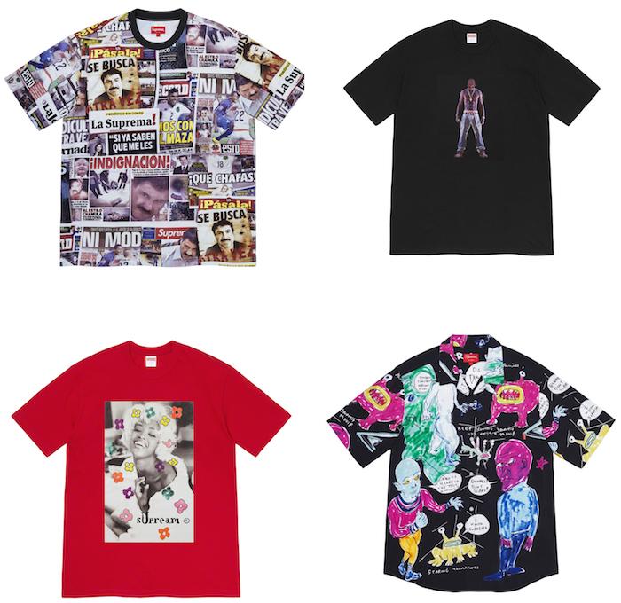 Découvrez les nouveaux t shirt Supreme de la collection SS2020 signés de différents artistes