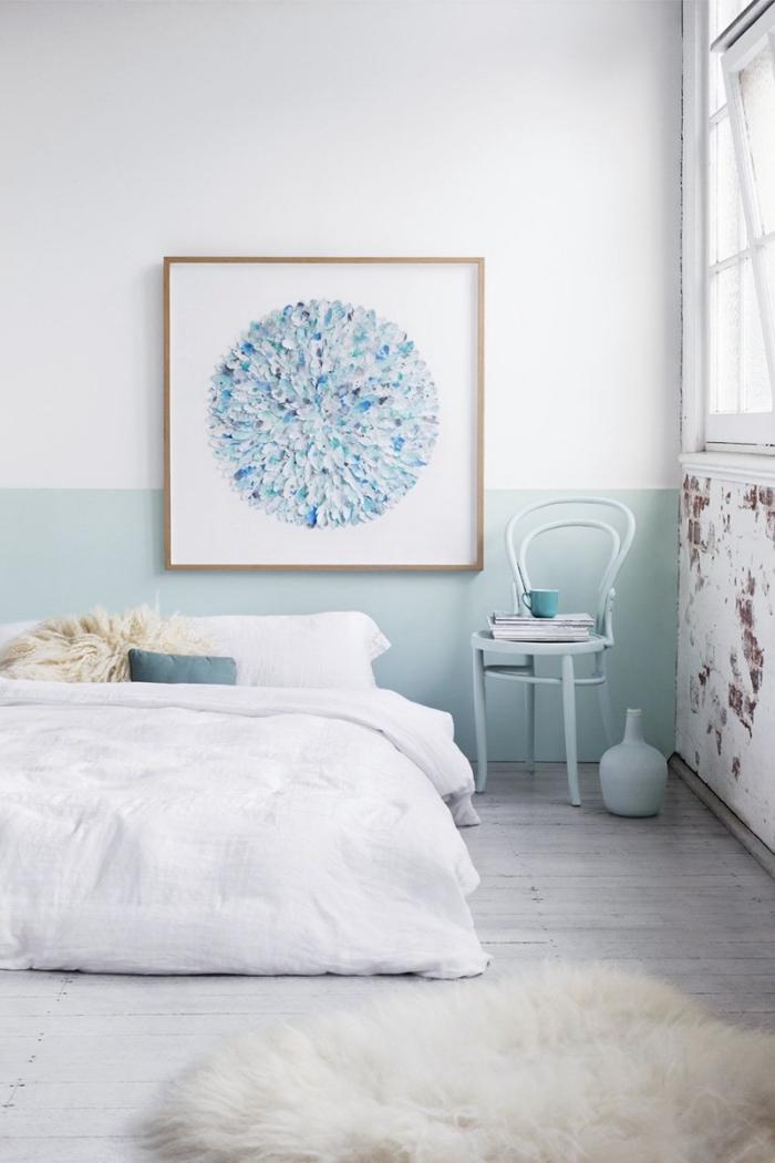 comment décorer une pièce d'enfant avec accents pastel, deco tete de lit facile à réaliser avec peinture murale