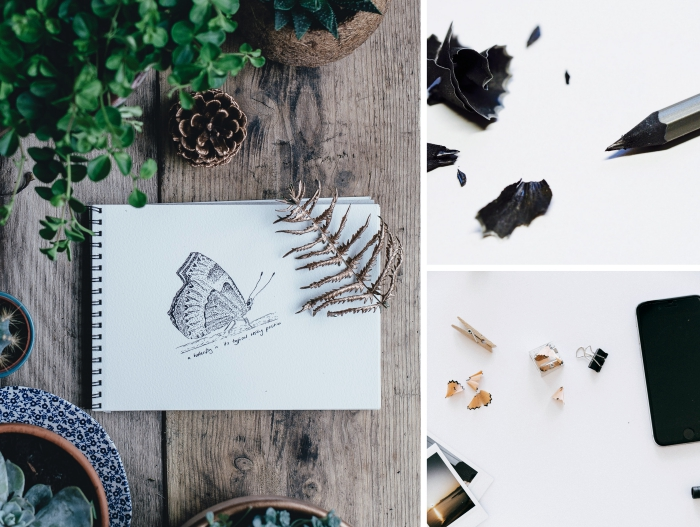 quels matériaux nécessaires pour débuter l'art de dessin, réaliser un dessin simple avec crayon ou feutre noir