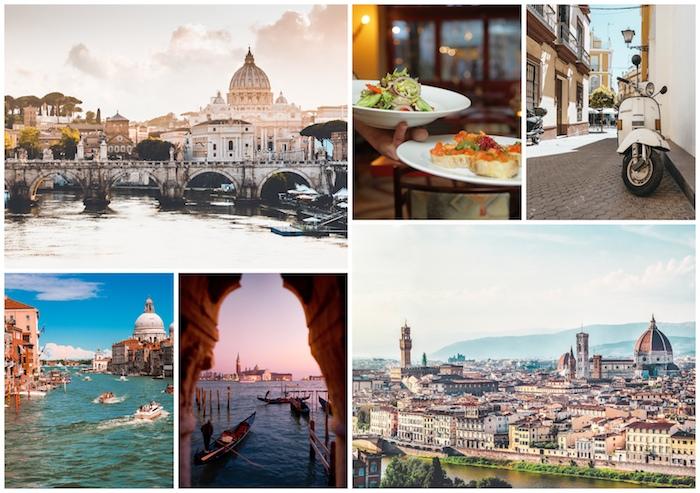 Italie Rome et Venise vues, la cathédrale de Florence, cool idée vacances quel pays à visiter