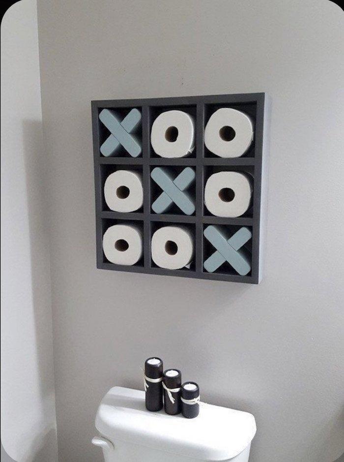 Étagère originale pour ranger les rouleaux de papier de toilette, tendance salle de bain, decoration murale moderne,