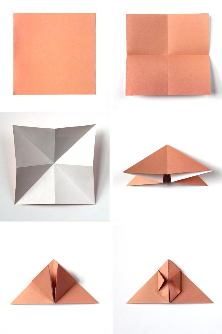 Lapin de papier pliage idee cadeau original a fabriquer, idee cadeau original pour les paques plier de papier