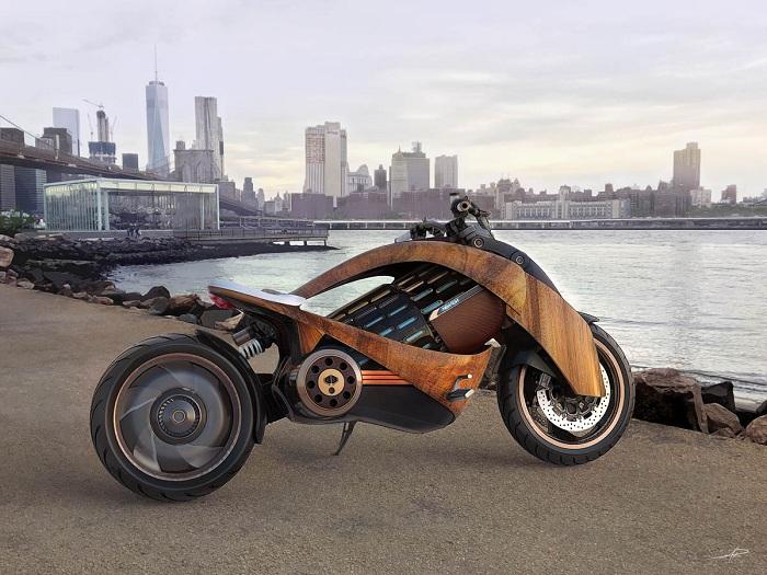 la jeune marque française Newron Motors lance la EV-1 électrique en bois