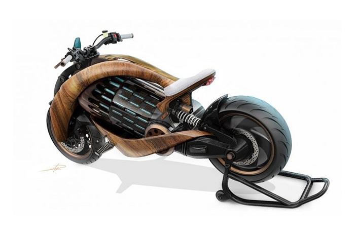 Newron Motors EV-1, une moto électrique 100% française avec chassis en bois