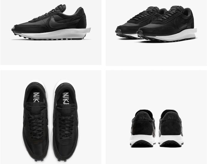 La Nike Sacai 2020 LD Waffle ressort aujourd'hui en version noir sur semelle blanche