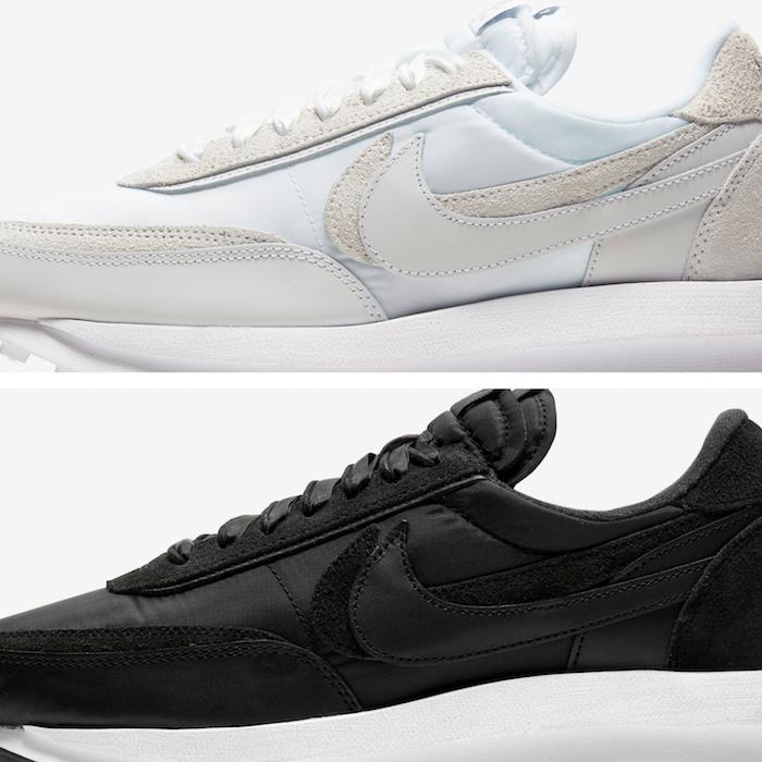 La chaussure Nike Sacai LDV Waffle white par est de retour en blanc et en noir