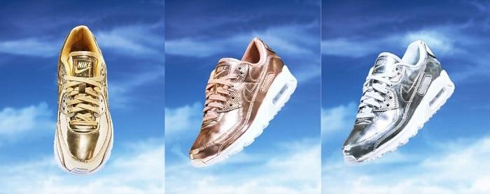 Pour le AM Day, Nike dévoile un trio de finitions Metallic pour son Air Max 90