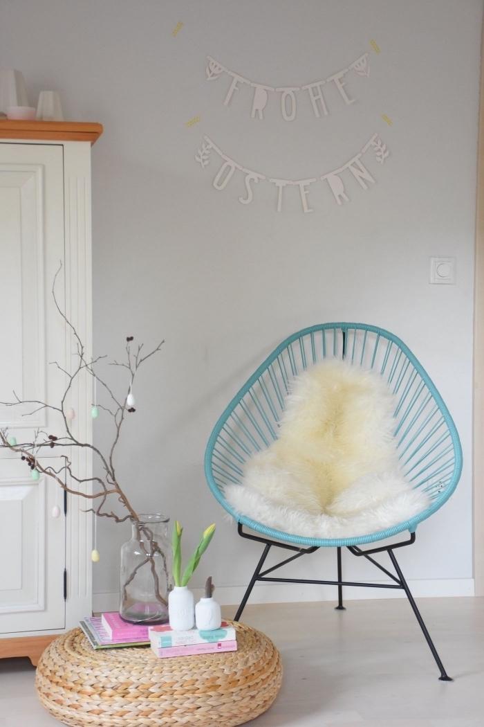 activité de paques facile pour la chambre d'enfant, idée comment décorer une pièce pour la fête des pâques
