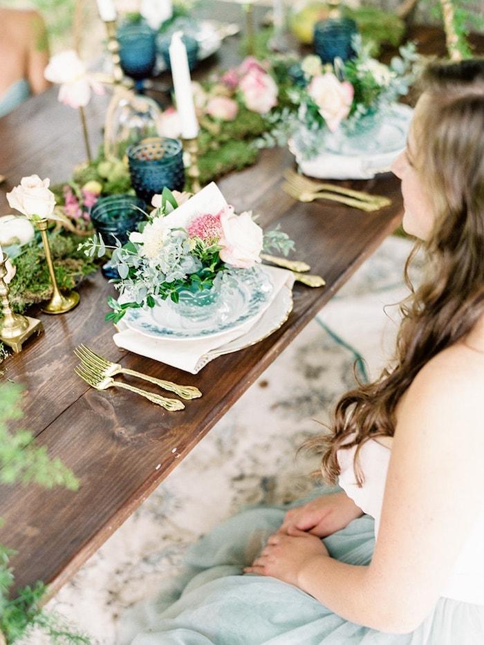 Élégante décoration de table mariage champêtre chic, decoration de table mariage champetre avec bohème stylistique