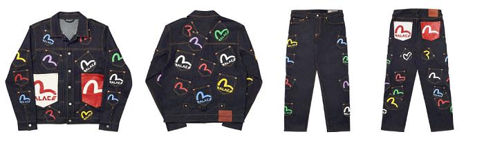 Palace x Evisu la marque de skateboards et le label de denim japonais lancent une collection collab le 3 avril