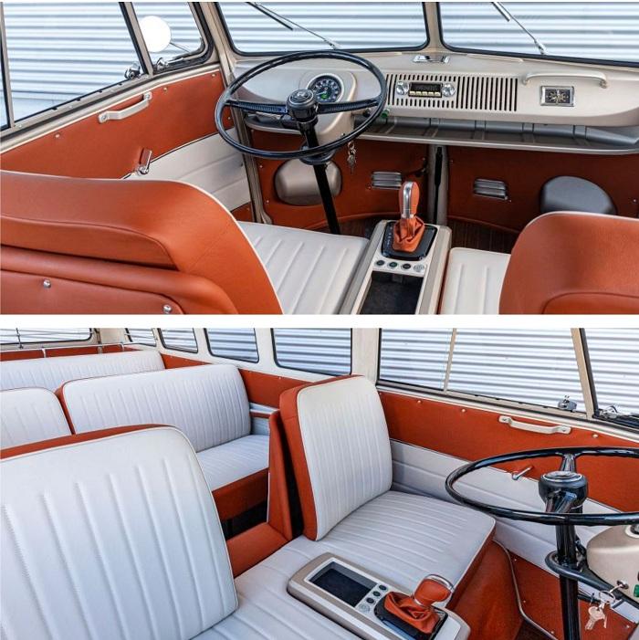 e-Bulli, un combi Volkswagen t1 vintage de 1966 équipé d'un moteur électrique
