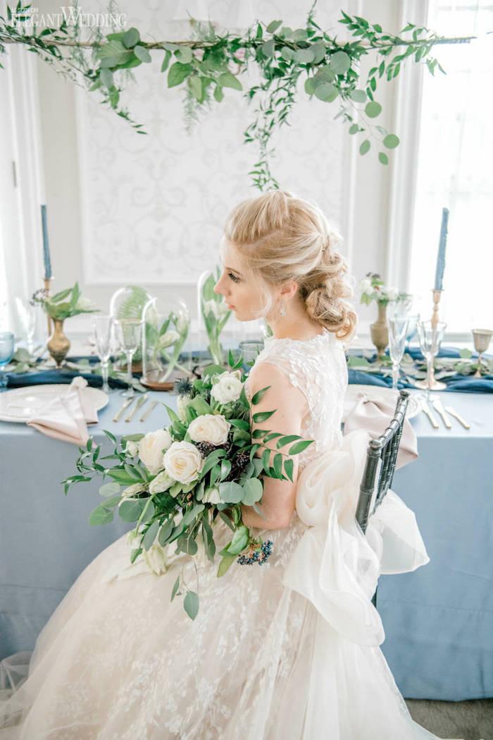 Mariée princesse robe de mariage idée style bohème, mariage champêtre chic tendance printemps été