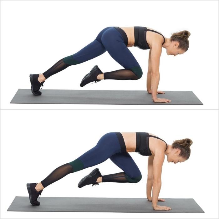 quel exercice de musculation a la maison sans matériel, exemple comment pratiquer du sport chez soi, comment faire exercice du grimpeur