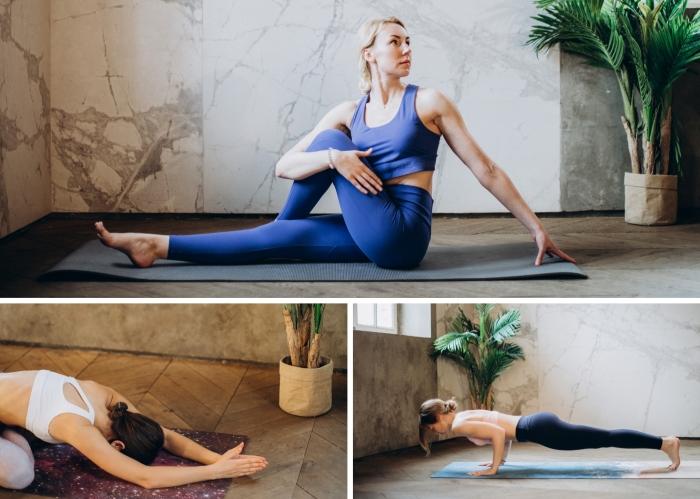 quelles sont les possibilités pour faire un sport à la maison sans matériel, idée de cours yoga à suivre pour débutants