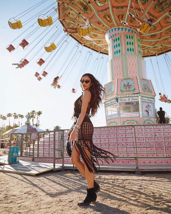 Fabuleux look Shay Mitchell coachella tenue inspiration, que porter pour ses vacances en californie