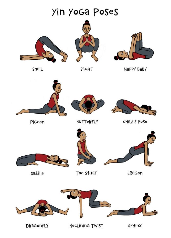 idée de seance full body avec exercices yoga, quelles positions de yoga pour débutants, exemple posture facile yoga