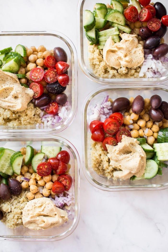 repas facile à préparer soi-même, idée de recette déjeuner aux légumes, recette healty à la base de quinoa