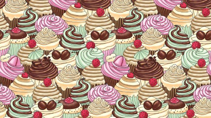 dessin de upcakes colorés avec glacage coloré nourriture cupcake kawaii pour un fond d ecran nourriture appetissant