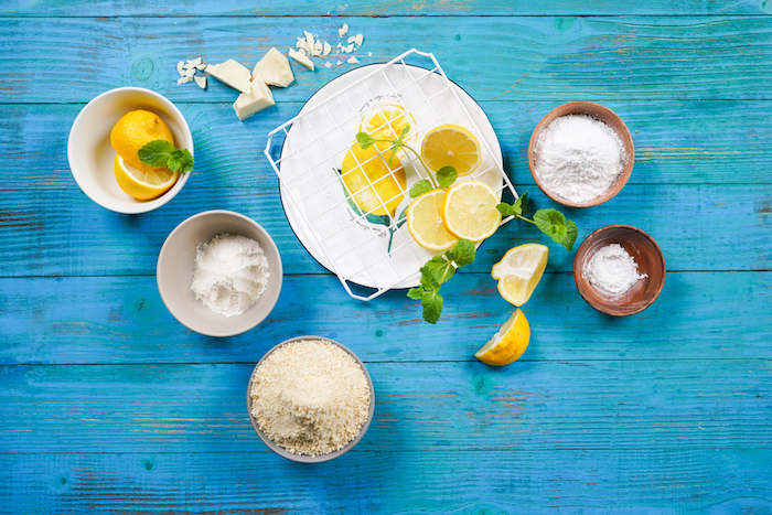 ingrédients nécessaires pour faire biscuits au citron petit dejeuner keto original à prendre avec le café