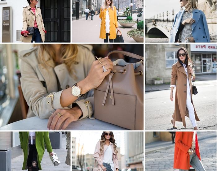 comment porter le manteau long ou court femme au printemps, tenue casual chic en veste jaune cheddar et blouse blanche