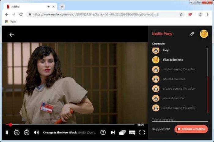 Une extension Google Chrome permet de visionner et partager un film ou une série à plusieurs, chacun chez soi