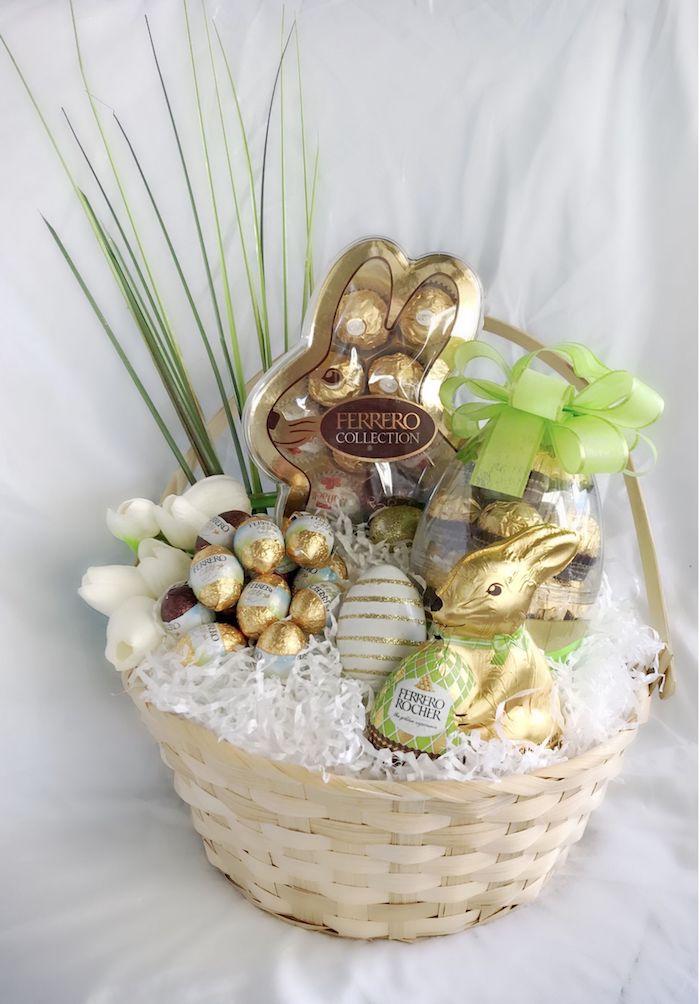 Chocolat bonbons ferero rocher collection, décoration de paques à fabriquer, faire un beau cadeau a faire soi meme