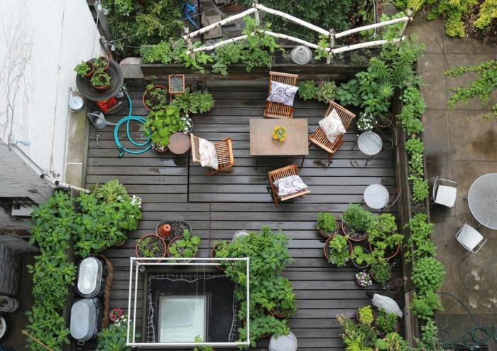 Véranda magnifique derriere la maison idee amenagement terrasse, comment aménager un petit jardin