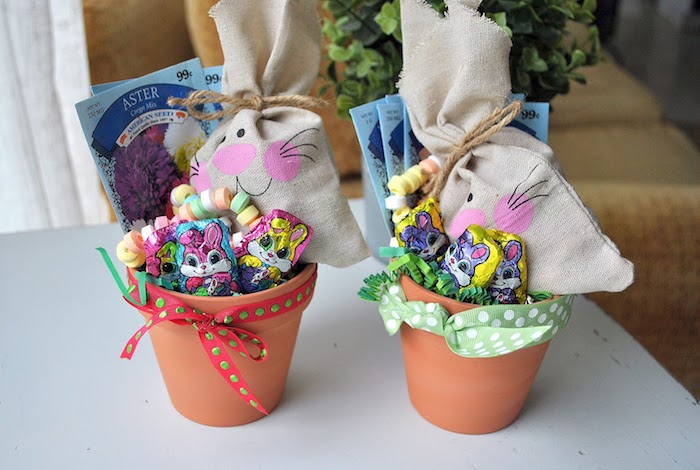 Pot pleine de chocolat idée cadeau maison, bricolage de paques cadeau a faire soi meme pour les enfants