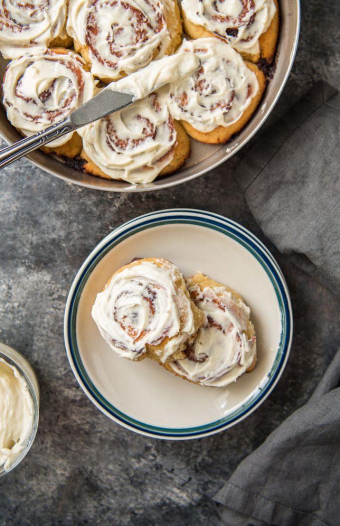 bricohe à la cannelle, recette de petit dejeuner minceur et sans sucre et gluten, recettes saines pour perdre du poids