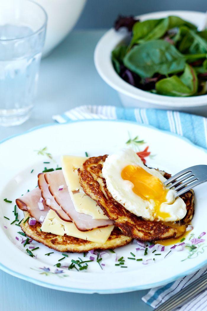 faire un pancake cetogene maison pour sandwch keto avec jambon, fromge et oeuf, quoi manger keto pour maigrir