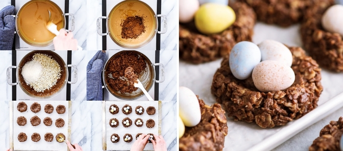 comment préparer un dessert paques sain avec beurre d'arachide, recette sucrée et saine à la base de flocons d'avoine