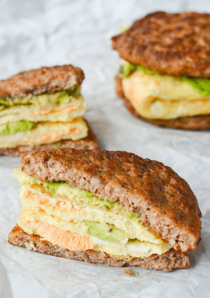 sandwich viande hachée, purée d avoca, mayonaise et fromages, regime keto quoi manger pour petit déjeuner