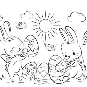 Coloriage de Pâques - 80 idées amusantes pour petits et grands