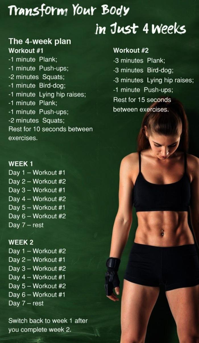 comment s'entraîner pendant 4 semaines pour transformer son cors, quel sport pour maigrir à la maison, défi sport maison