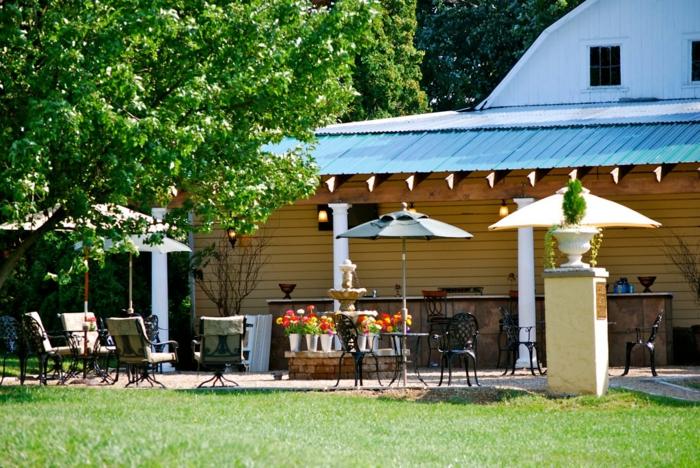 Cool idée pour le jardin, bouquets de fleurs, decoration exterieur, amenagement terrasse bois coin bien amenagé