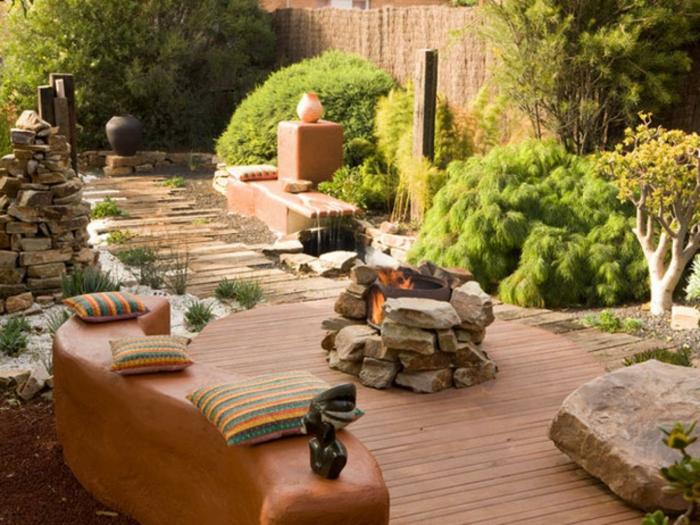 Comment aménager la terrasse pour sembler zen, terrasse exterieur, aménager une terrasse jardin avec meubles