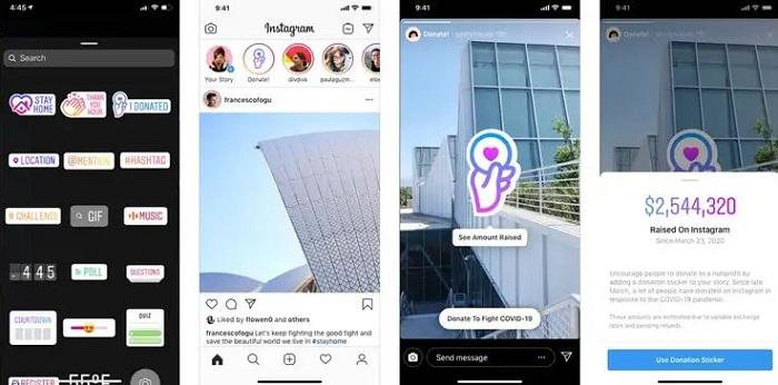 Après le sticker de dons pour Story, Instagram lance la collecte de fonds pour Instagram Live