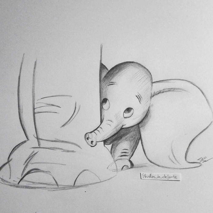 Petit éléphant qui se cache derrière les pieds de sa mere coloriage fete des meres, dessin fete des mere a colorier ou retracer