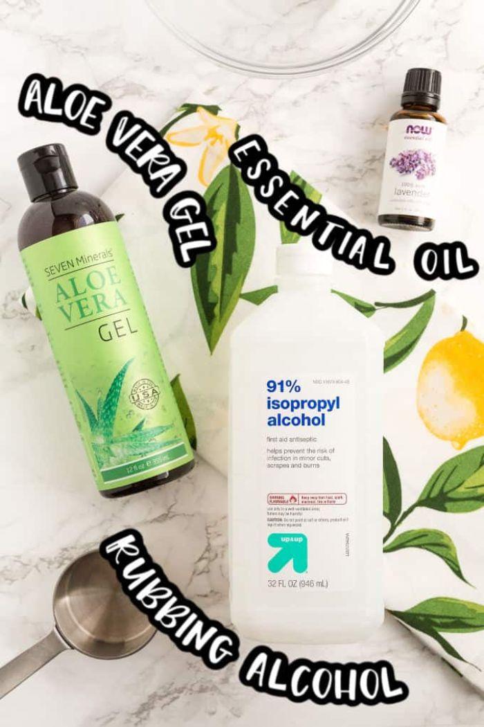 fabriquer gel hydroalcoolique soi meme à base d aloé vera, alcool et huile essentielle, recette anti virus