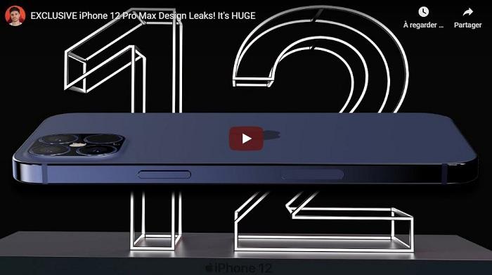 Le youtubeur EverythingApplePro a dévoilé un modèle 3D du prochain Iphone 12