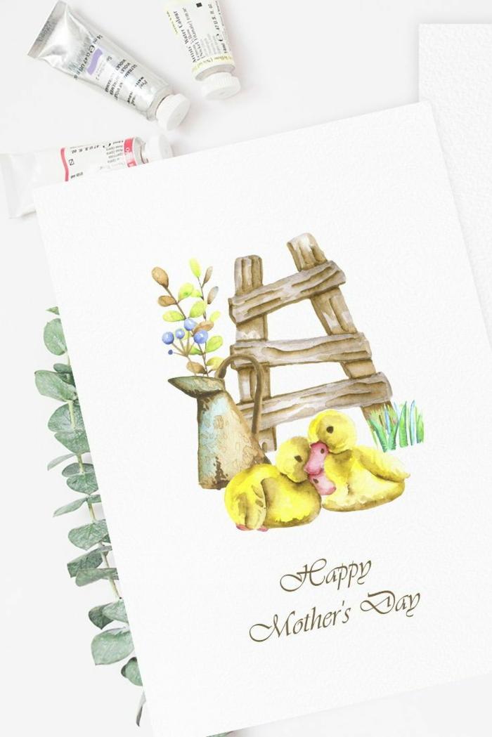 Carte de voeux pour la fete des meres, activité créative pour la fete des meres, dessin pour la fête des mères