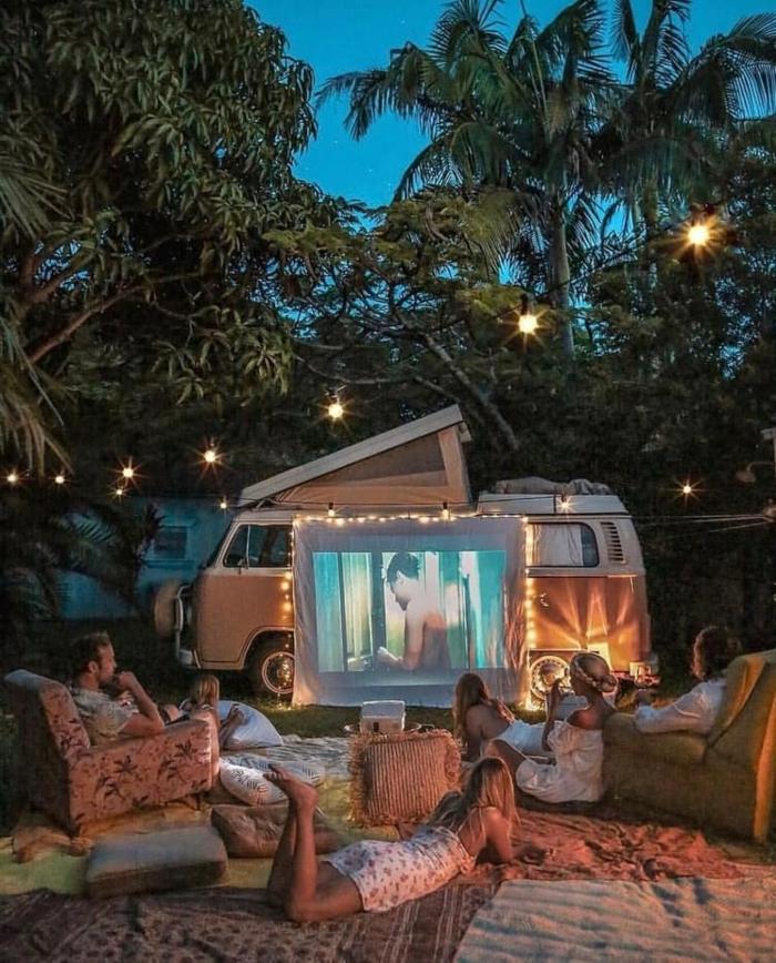 Cool idée soirée ciné avec amis, fond d écran d été cozy photo, beau fond d écran swag image